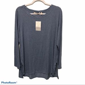 Soft Surroundings Blue Tie The Knot Tunic Top